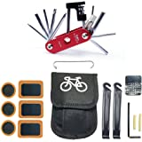 WOTOW 16 in 1 14 in 1 Multi-Function Bike Bicycle Repair Tool Kit Allen Wrench with Tire Pry Bars Rods