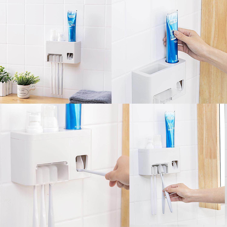 Dispensador de pasta de dientes autom/ático y soporte para cepillo de dientes/ /Kids Touchless dispensador de pasta de dientes