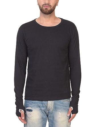 522f168f0b4 PAUSE Men's Thumb-hole Full Sleeve Round Neck Cotton T-Shirt: Amazon ...
