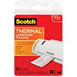 Scotch Thermal Laminating Pouches, 5 Mil Thick for Extra Protection, Professional Quality, 3.7 x 5.2-Inches, 20-Pouches (TP59
