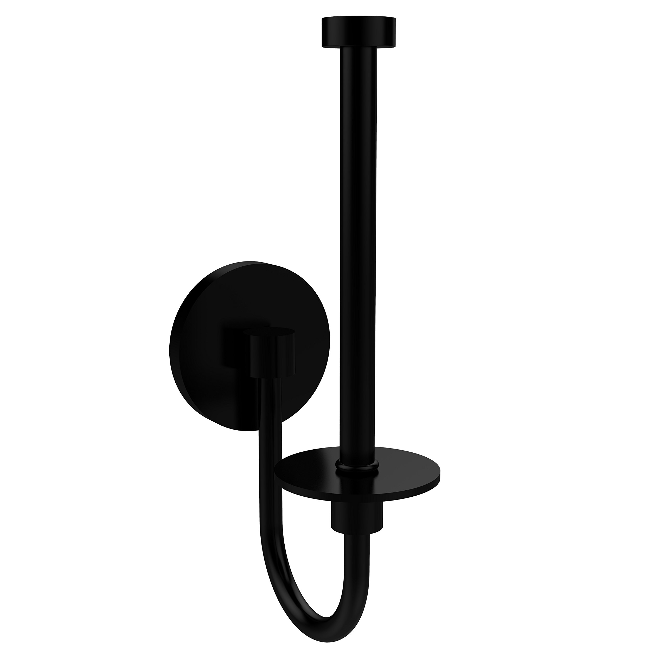 Allied Brass 1024U-BKM Skyline Collection Upright Toilet Tissue Holder, Matte Black