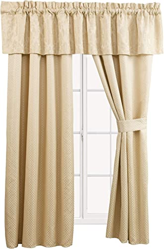 Deal of the week: sheetsnthings Sara 5 Piece Lined Jacquard Curtain Panel Set Includes 2 Panels