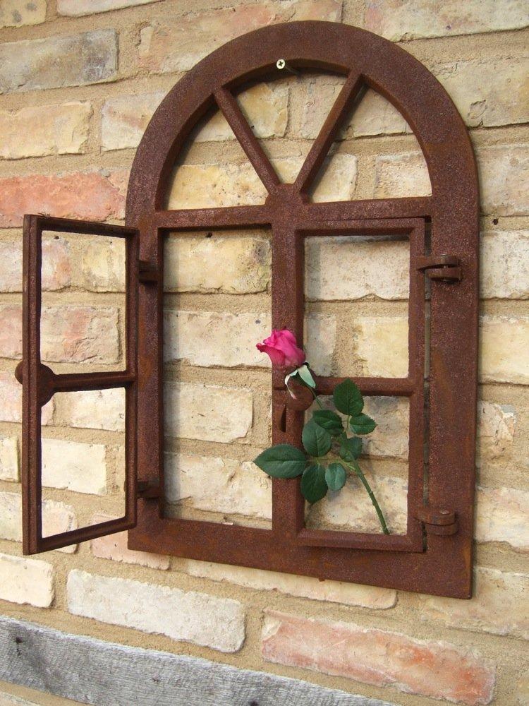 Fenster rund klapp Antiquitäten & Kunst Eisenfenster ländlich-altes Gusseisen Stallfenster wie antik Fenster