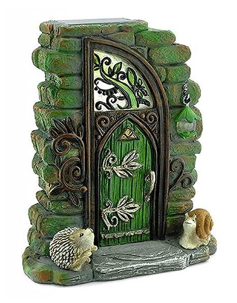 Georgetown Home And Garden Miniature Fairy Garden Erin Green Solar Fairy  Door