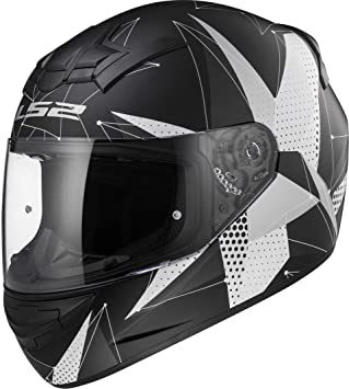 LS2 Casco Moto FF352 Rookie Brilliant, Matt black Titanium, ...
