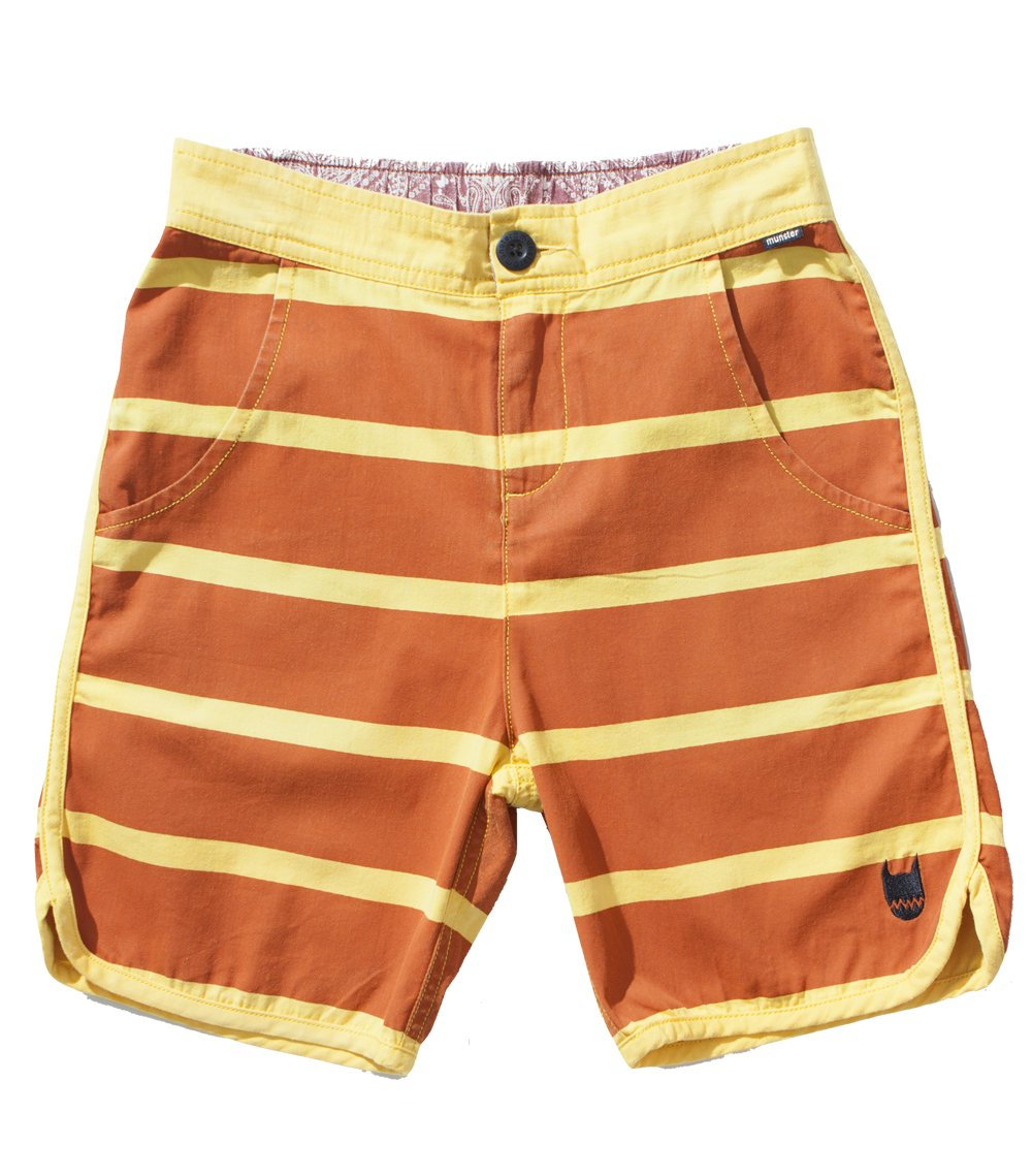 Munster Big Boys' Down The Line Walk Short in Gold (c) 10