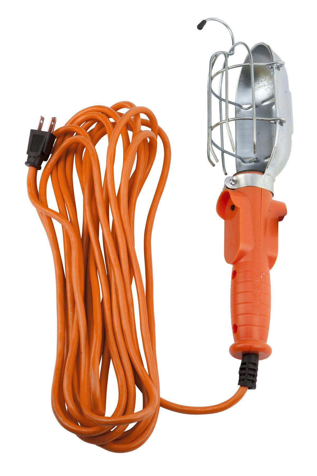 Performance Tool W2260 120V, 25' x 18GA Metal Drop Light With Hook