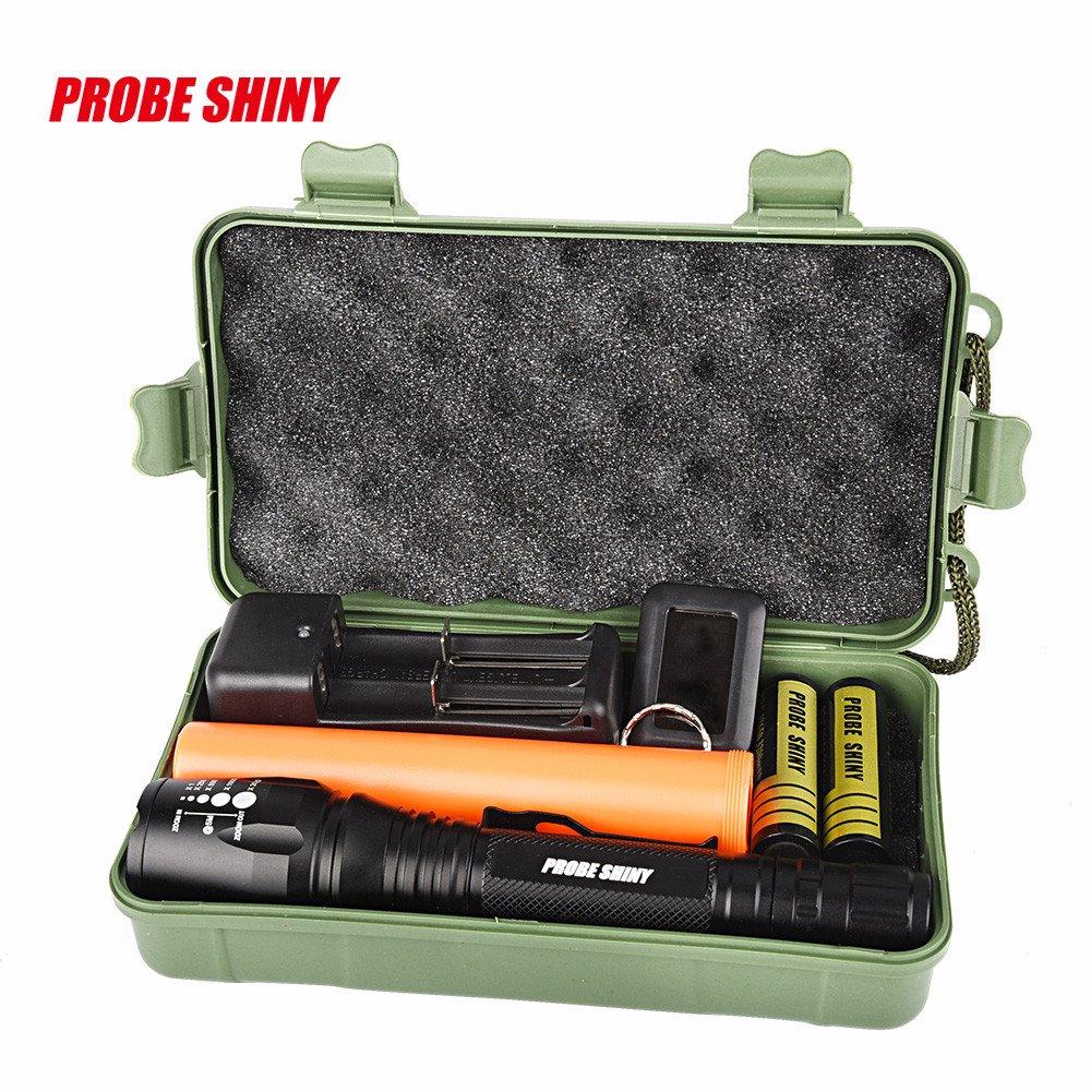 Dressffe 8000 lumens Super Bright XM-L T6 LED Adjustable Focus Rechargeable Flashlight Kits VIASA
