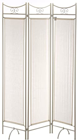 Nahuel Home - Biombo Forja Marfil 3 Paneles 120 X 180 Cm: Amazon.es: Hogar