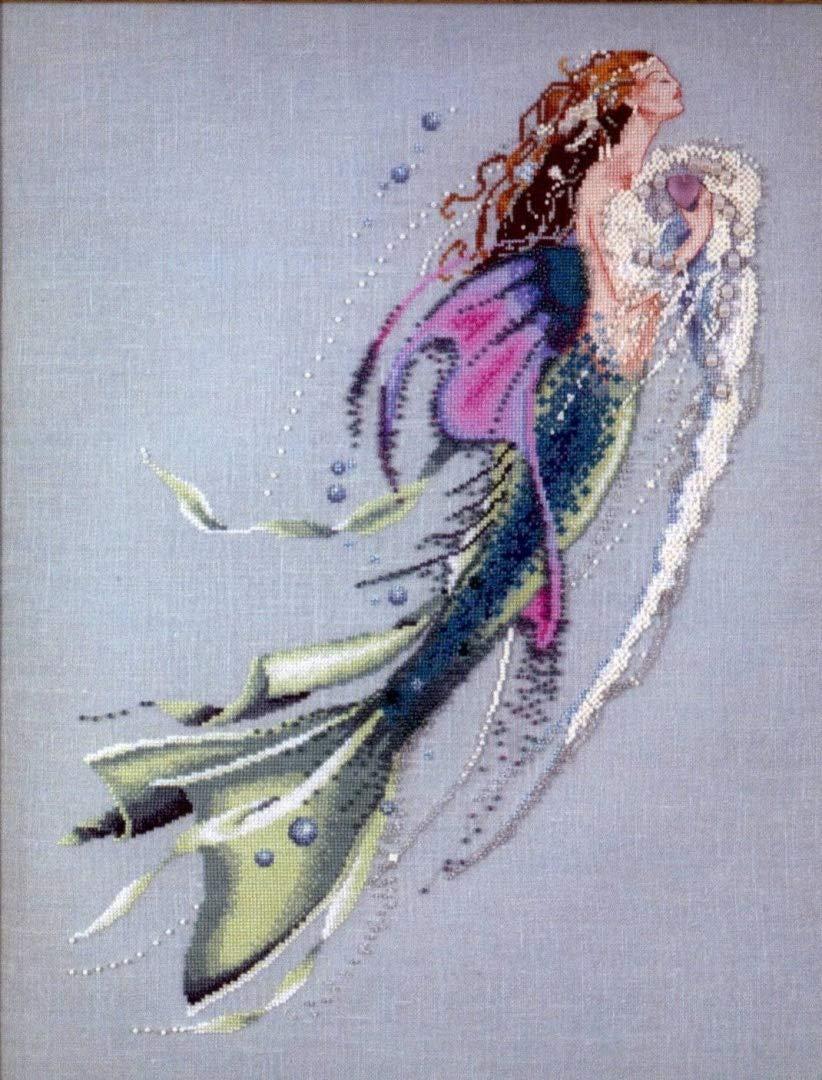 Mermaid of the Pearls - Cross Stitch Pattern Mirabilia Designs 97-1092