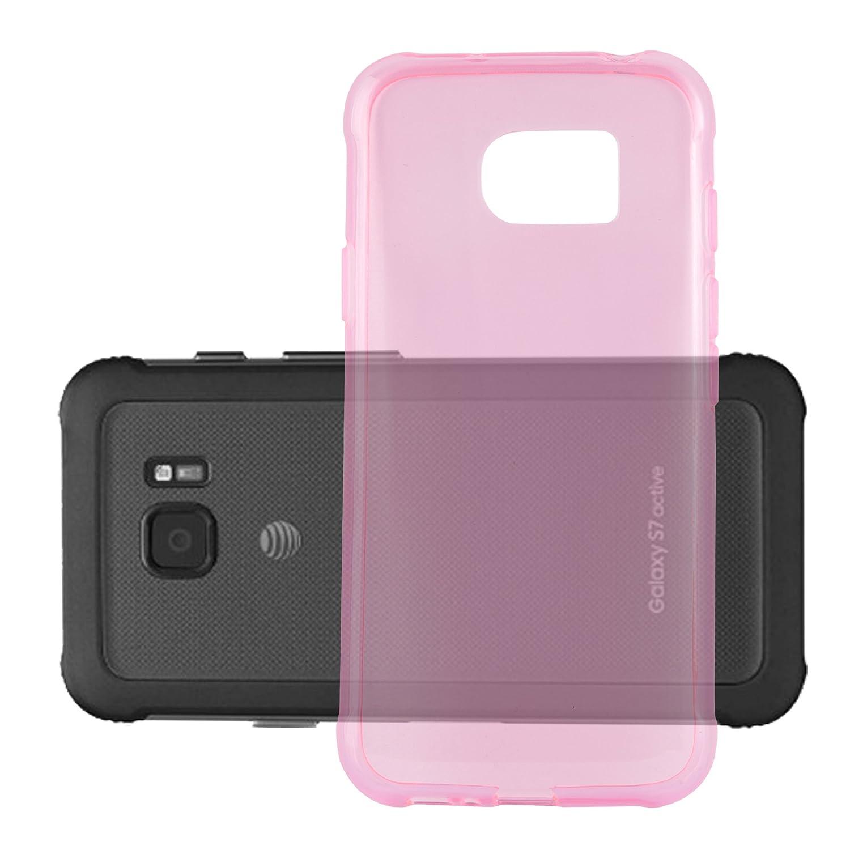 Cadorabo Coque pour Samsung Galaxy S7 Active en Noir Transparent Choc et Anti Housse Protection Souple en Silicone TPU avec Anti Rayures Ultra Slim Fin Gel Case Cover Bumper