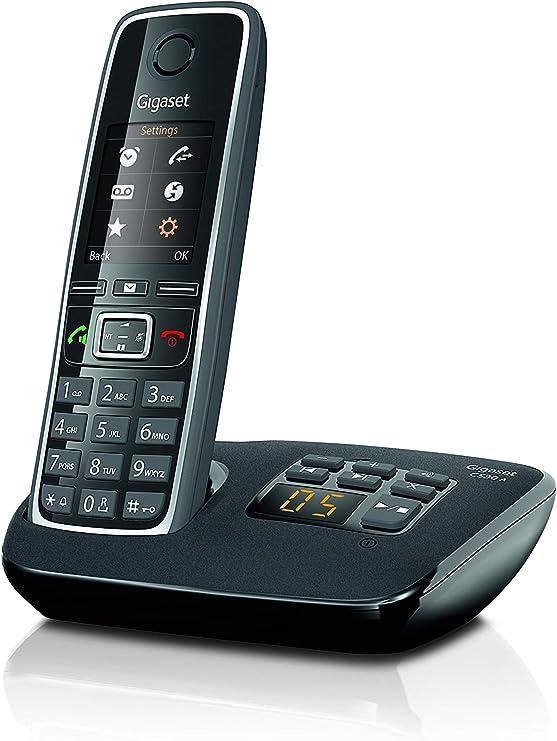 Gigaset C530A - Teléfono fijo digital (inalámbrico), negro [Versión Importada]: Amazon.es: Electrónica