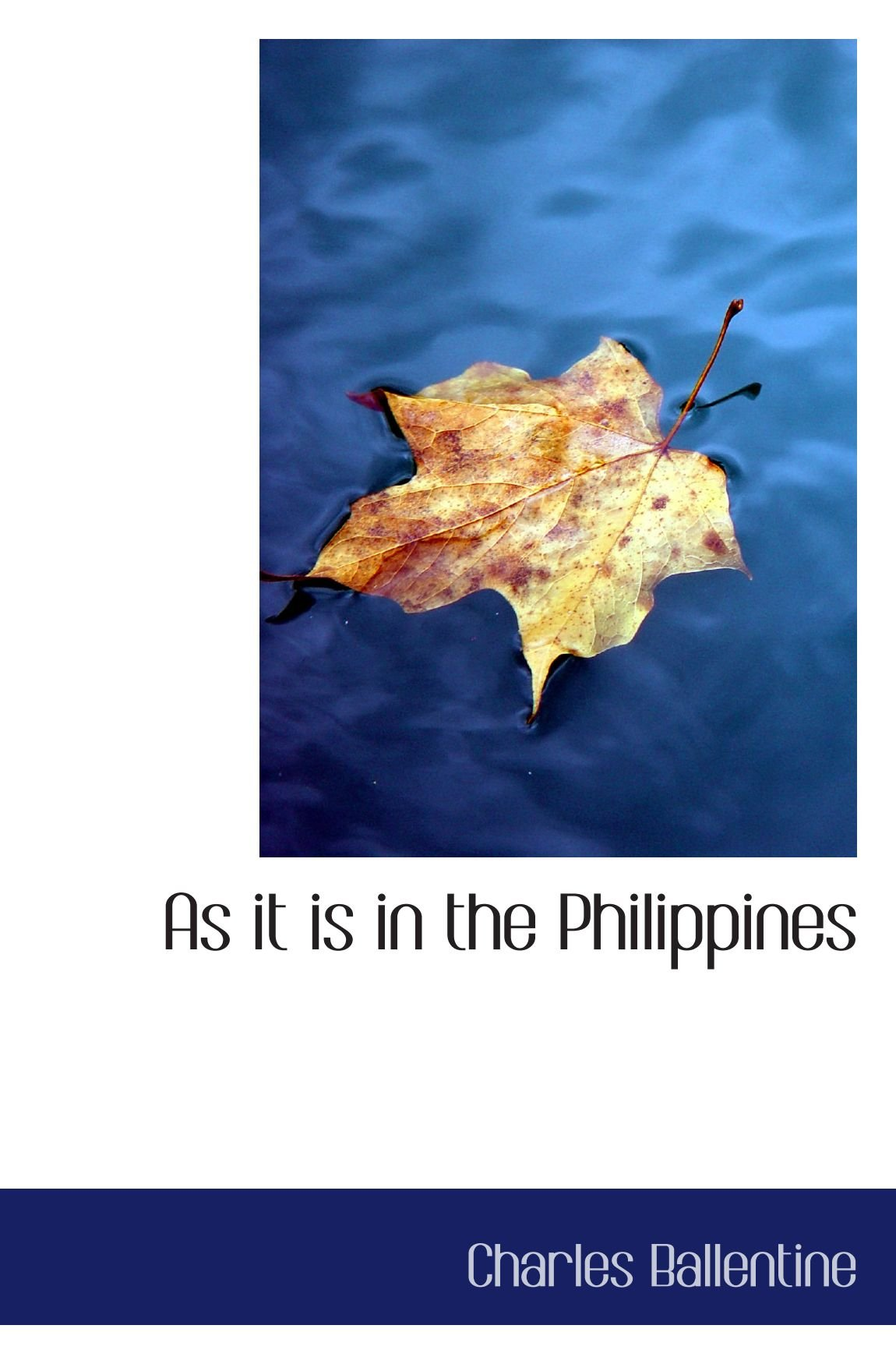 Download As it is in the Philippines pdf epub