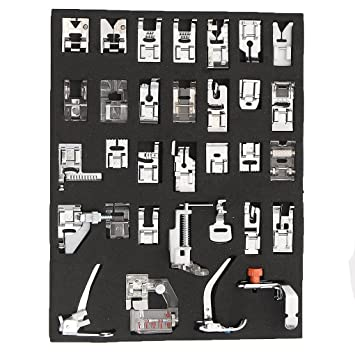 Uzinb Pies 32pcs doméstica Máquinas de Coser prensatelas Poner el pie para Brother Mariposa máquinas de Coser eléctricas: Amazon.es: Hogar