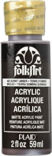 product image for FolkArt Acrylic Paint in Assorted Colors (2 oz), 462, Burnt Umber