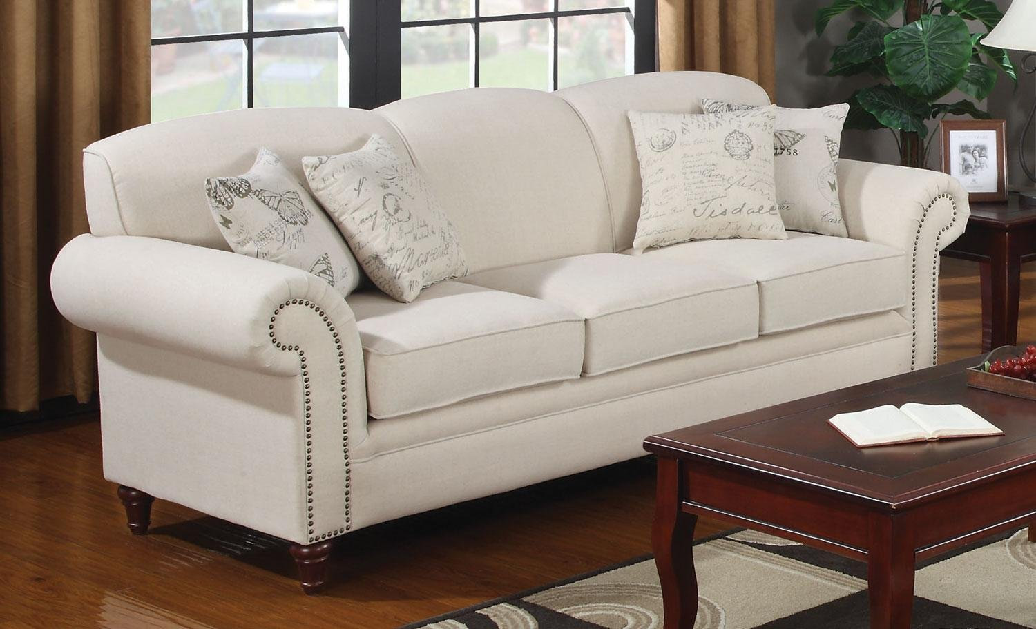 Amazon.com | Coaster Coaster Norah Sofa U0026 Loveseat Set: Linen Sofa: Coasters
