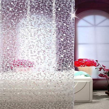Cortinas de ducha Sistema no perforado [tela impermeable] Engrosamiento del mildiu Cortina de ducha de baño Las cortinas de mampara de baño Cordón colgante del cuarto de baño-B 180cm*180cm: Amazon.es: Hogar