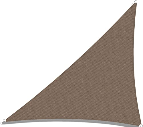 TANG Sunshades Depot 20' x 21' x 29' Sun Shade Sail Right Triangle Permeable Canopy Brown Coffee Custom Commercial Standard 240 GSM