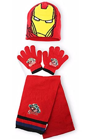 Hat /& Glove Set Avengers Boys Scarf