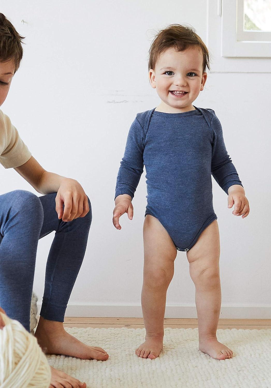 hessnatur Baby M/ädchen und Jungen Unisex Langarm-Body aus Reiner Bio-Merinowolle