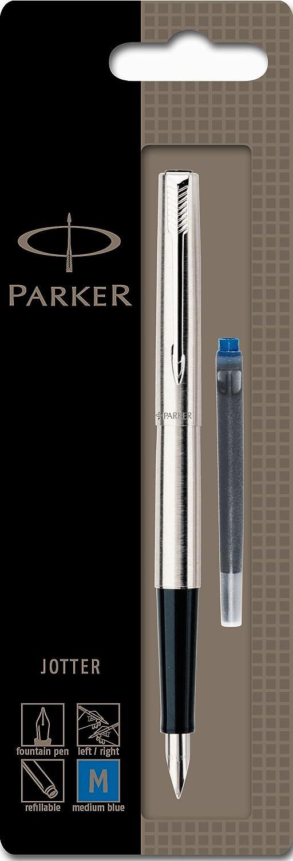 Parker Jotter adornos en cromo, punta media Pluma estilogr/áfica con caja