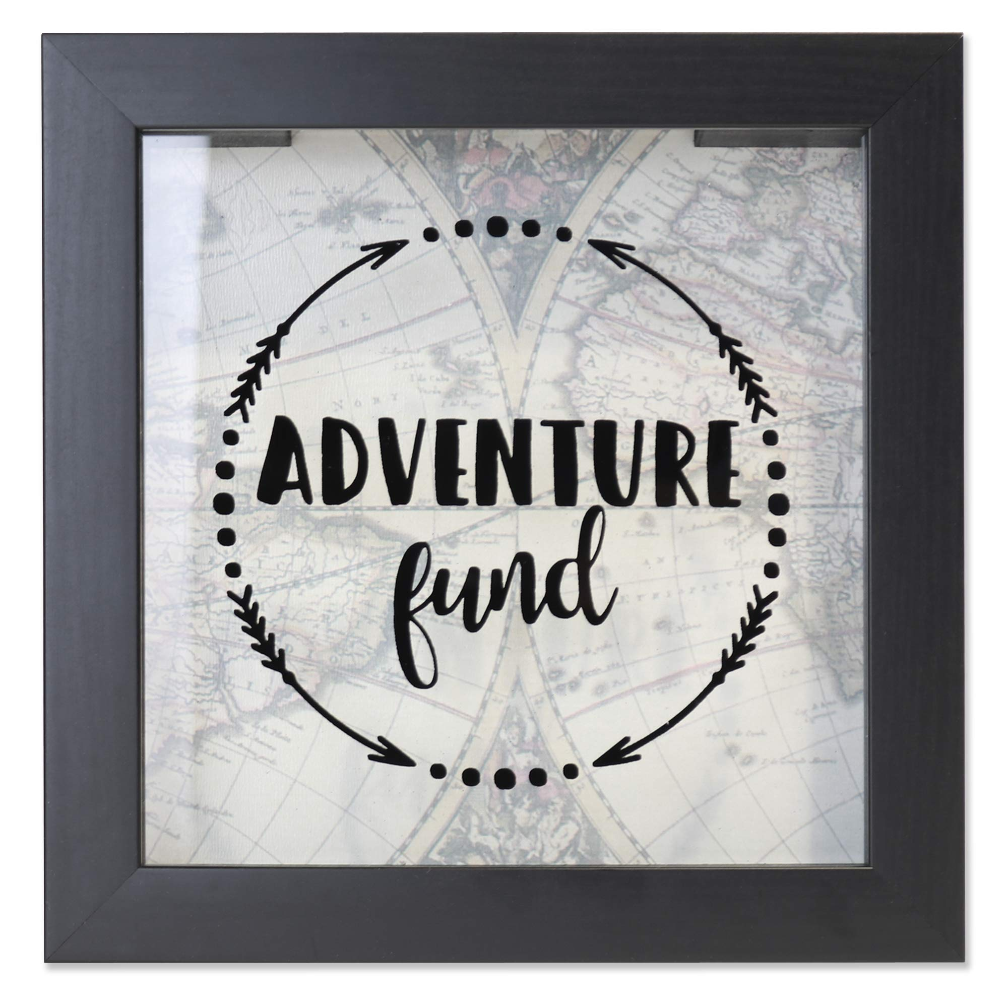 Lawrence Frames 8x8 Adventure Fund Black Shadow Box Frame by Lawrence Frames