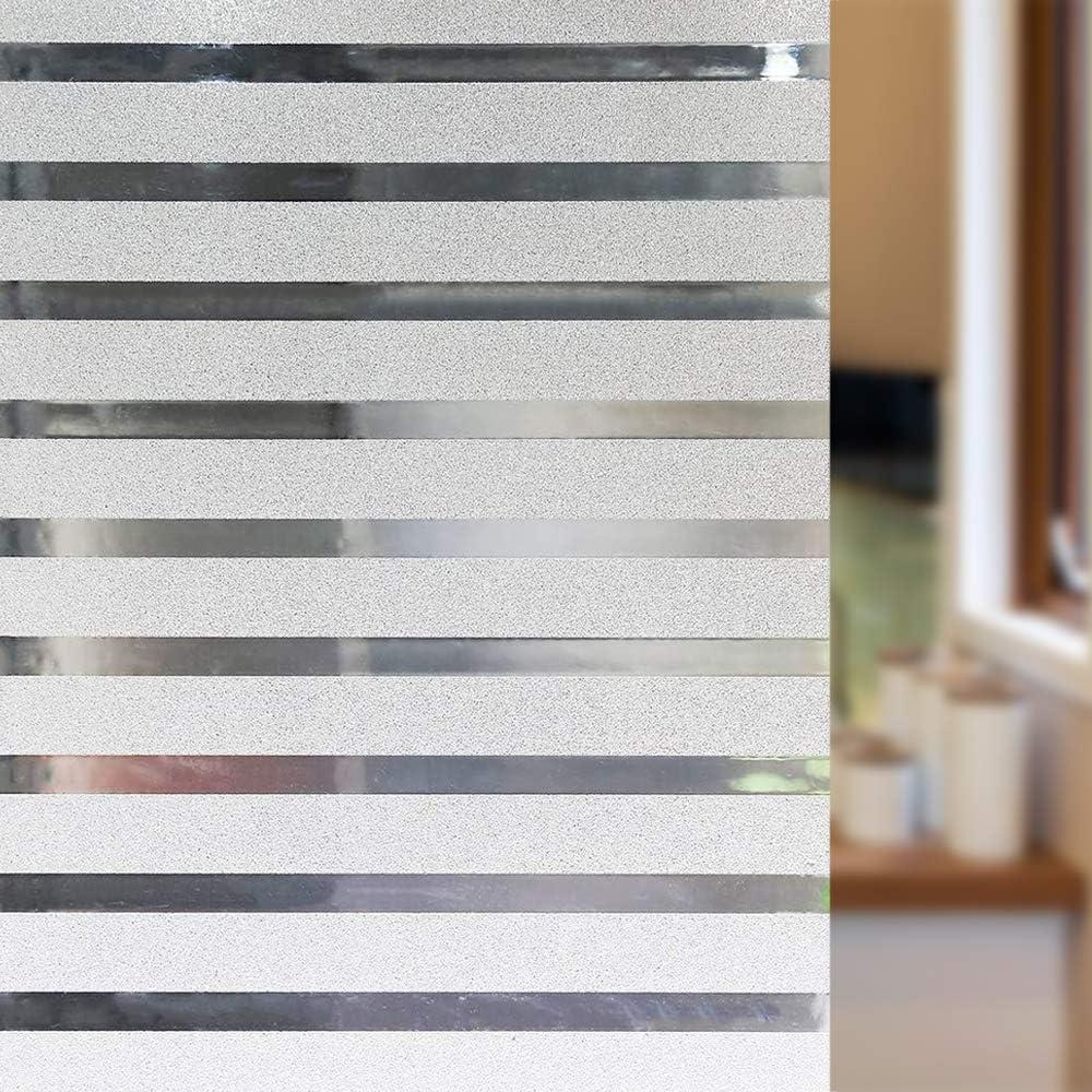 Haiyis pellicola statica per finestre soggiorno o cucina, protezione UV senza colla 44,5 x 200 cm per ufficio effetto smerigliato