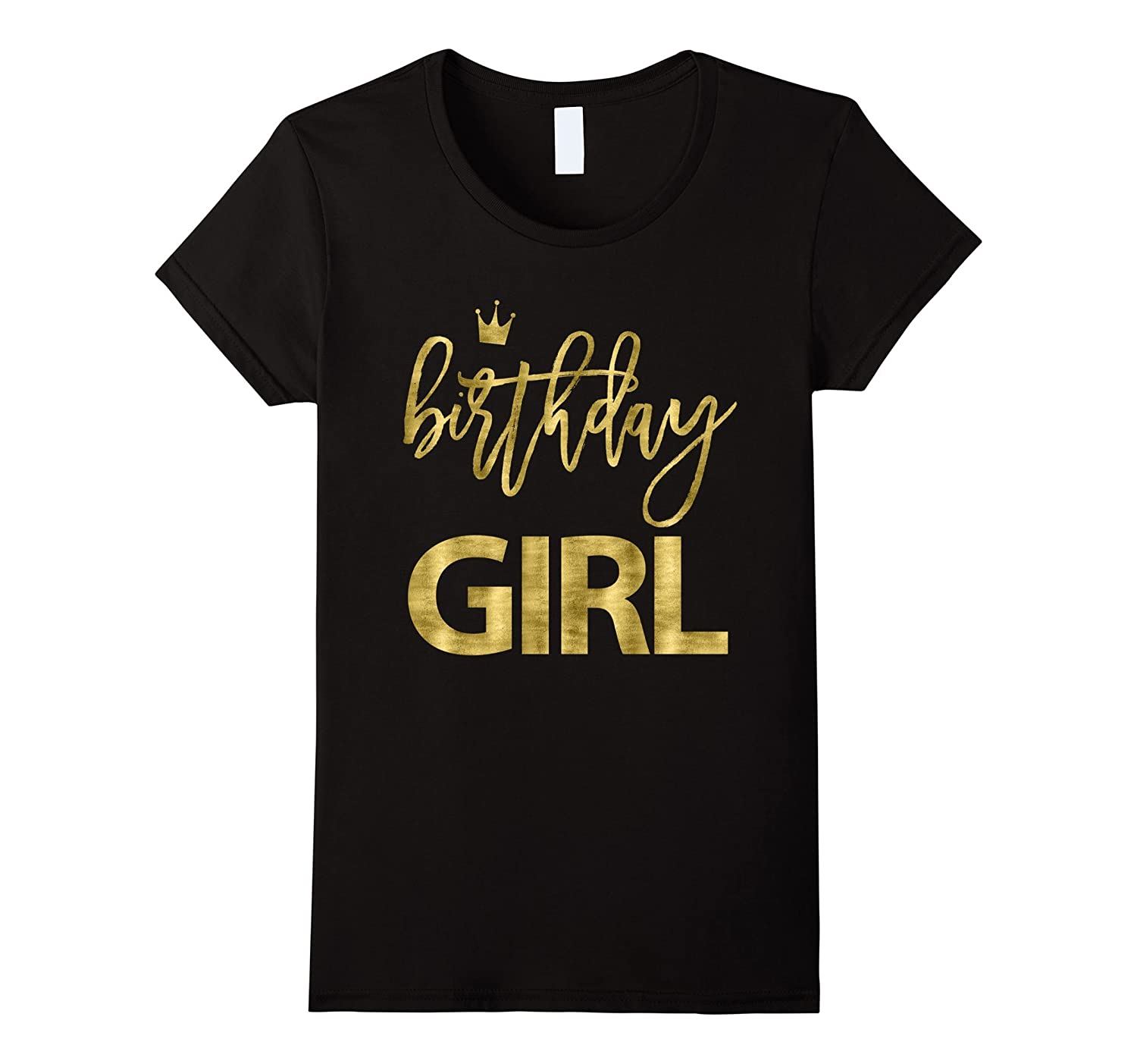 Birthday Shirts For Girls Golden Imitation-T-Shirt