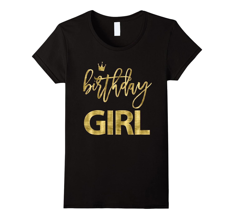 Birthday Shirts For Girls Golden Imitation-FL