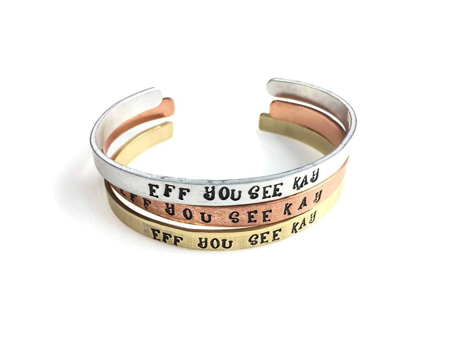 Eff You See Kay Cuff Bracelet (4 Metal Choices)