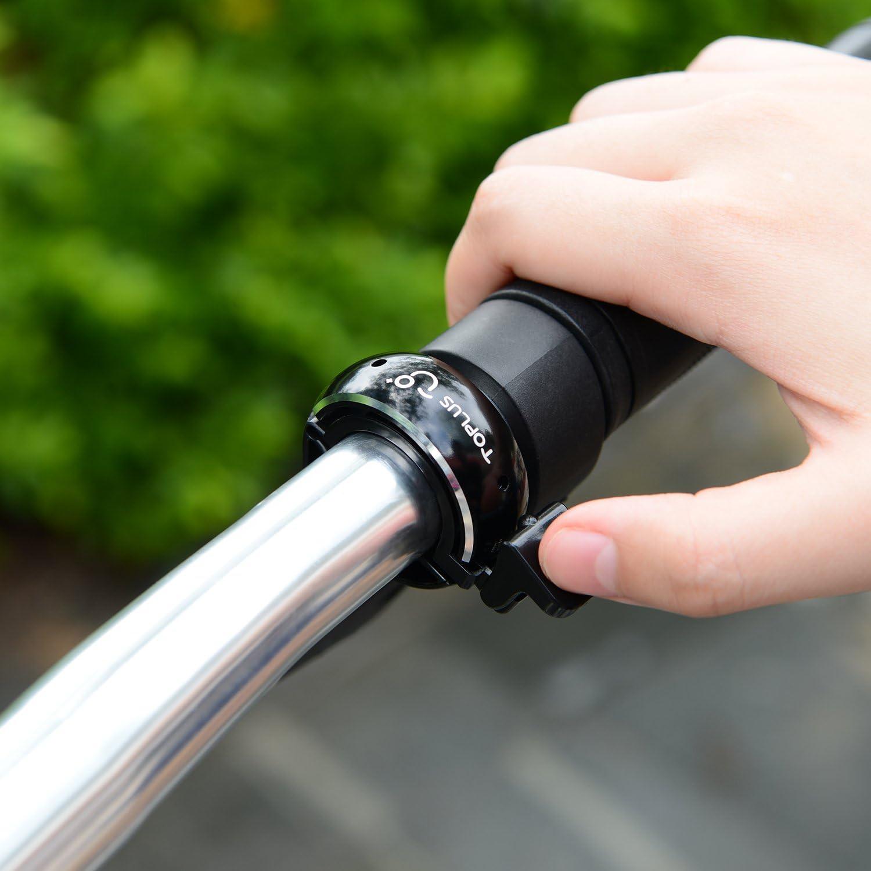Fahrrad Klingel,Fahrradklingel schwarz TOPLUS Fahrradglocke f/ür Alle Fahrr/äder f/ür Lenker 22.2-31.8mm