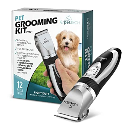 Amazon Com Pettech Professional Dog Grooming Kit Rechargeable