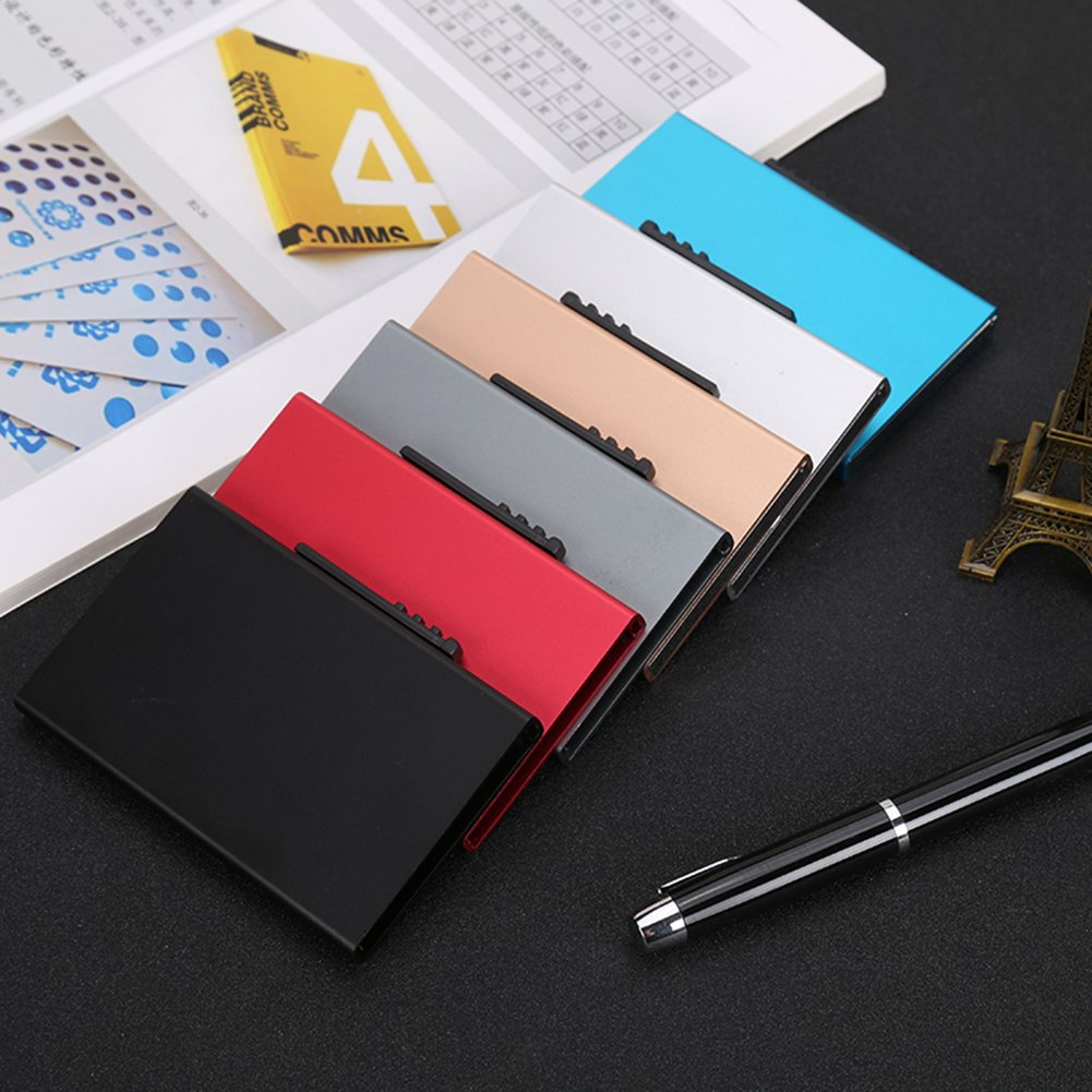 Business card holder professional business card holder name card business card holder professional business card holder name card case metal wallets card holder rfid smart wallets silver 2c0fc14 indicatordemoview reheart Images