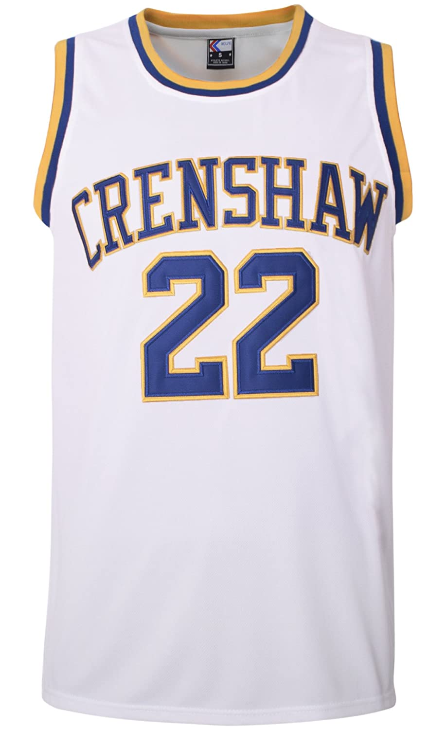 MOLPE McCall 22 Crenshaw Basketball Jersey S-XXXL White, 90S Hip Hop  Clothing for Party, 2-Layer Stitched Letters and Numbers