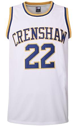 e1bfbfabd521 Amazon.com  MOLPE McCall 22 Crenshaw Basketball Jersey S-XXXL White ...