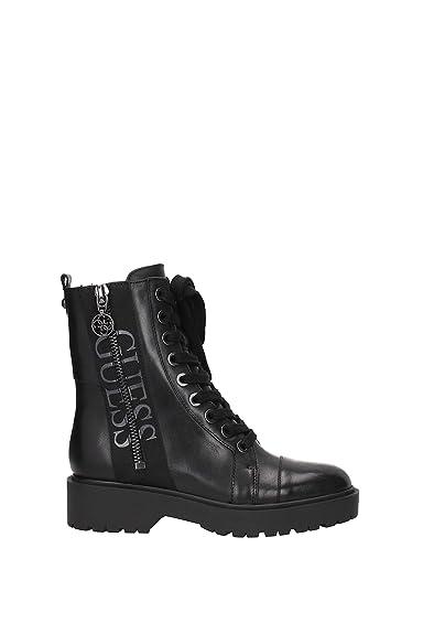 Guess Bottes Femme en Cuir Wala Noir  Amazon.fr  Chaussures et Sacs 17887d8d8c9a
