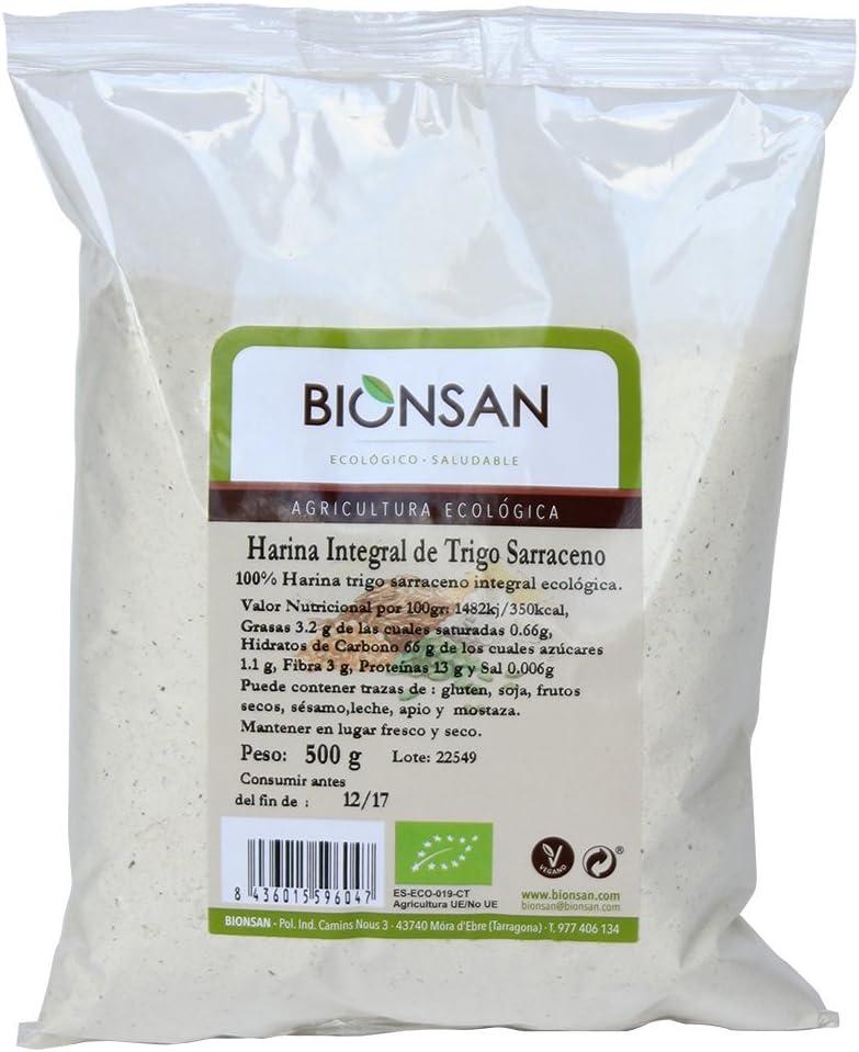 Harina integral de trigo sarraceno ecológico BIONSÁN (500 gr)
