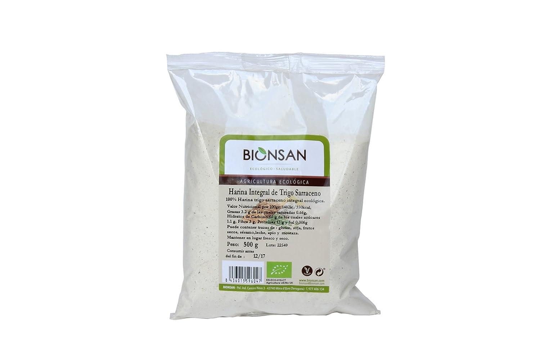 Bionsan Harina de Trigo Sarraceno Ecológico | 4 Paquetes de 500 gr ...
