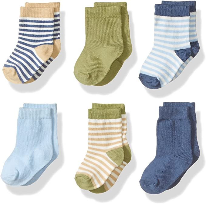 White 6-Pack Touched By Nature Boy and Girl Organic Cotton Socks