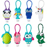 Liabebe Kids Hand Sanitizer Holder, Portable Liquid Carrier,1 oz Empty Refillable Bottle, Travel Size Keychain for Backpack,