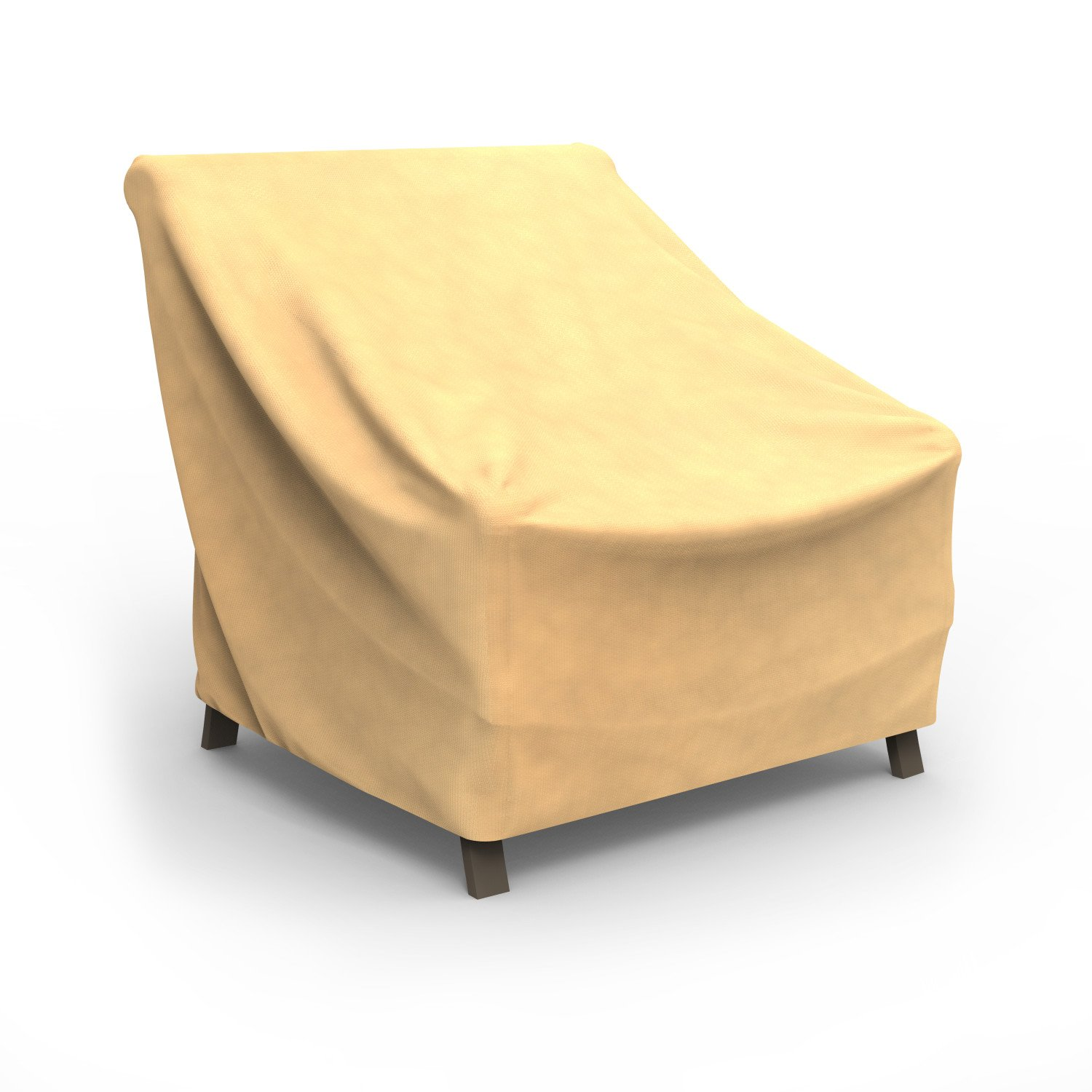 Budge All-Seasons Patio Chair Cover, Extra Large (Tan) by Budge