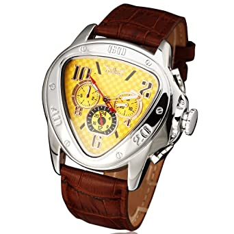 JARAGAR Top Luxury Brand Watch Men Automatic Mechanical Men Watches Fashion Leather Clock Men Wristwatch Relogio