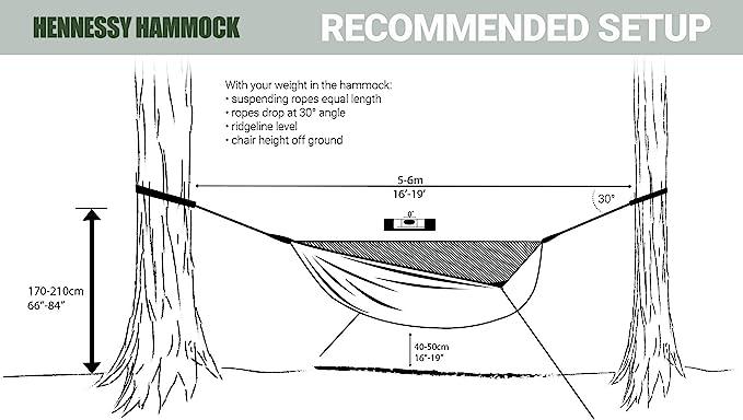 Deep Jungle Zip XL Hamaca Refugio Premium para acampada y supervivencia Hennessy Hammock