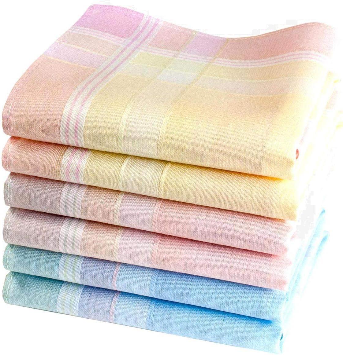 100/% Coton Mod/èle Elise Merrysquare Mouchoirs Femme Multicolores Petite Taille 29cm 6 Pi/èces