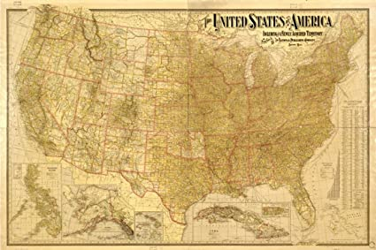 Amazon.com: Map: 1901 The United States including all its ...