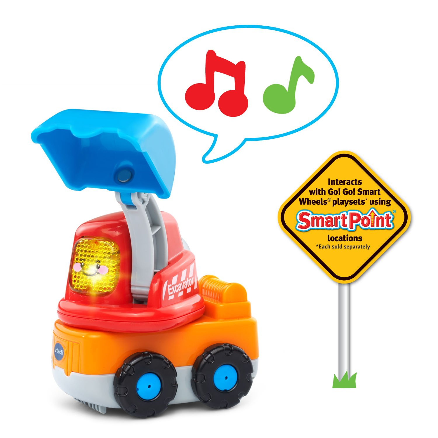 VTech Go! Go! Smart Wheels Garbage Truck and Excavator by VTech (Image #5)