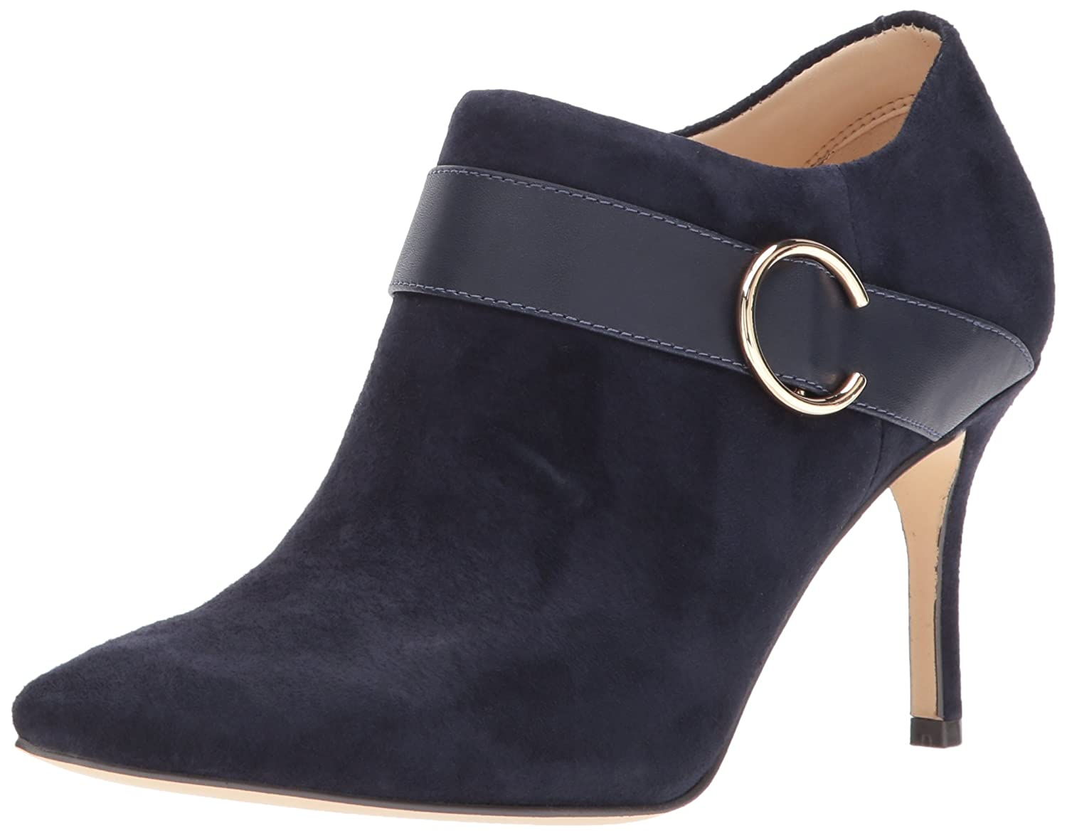 Nine West Women's Megaera Ankle Boot B01N5XUN8Q 9 B(M) US|Navy Suede