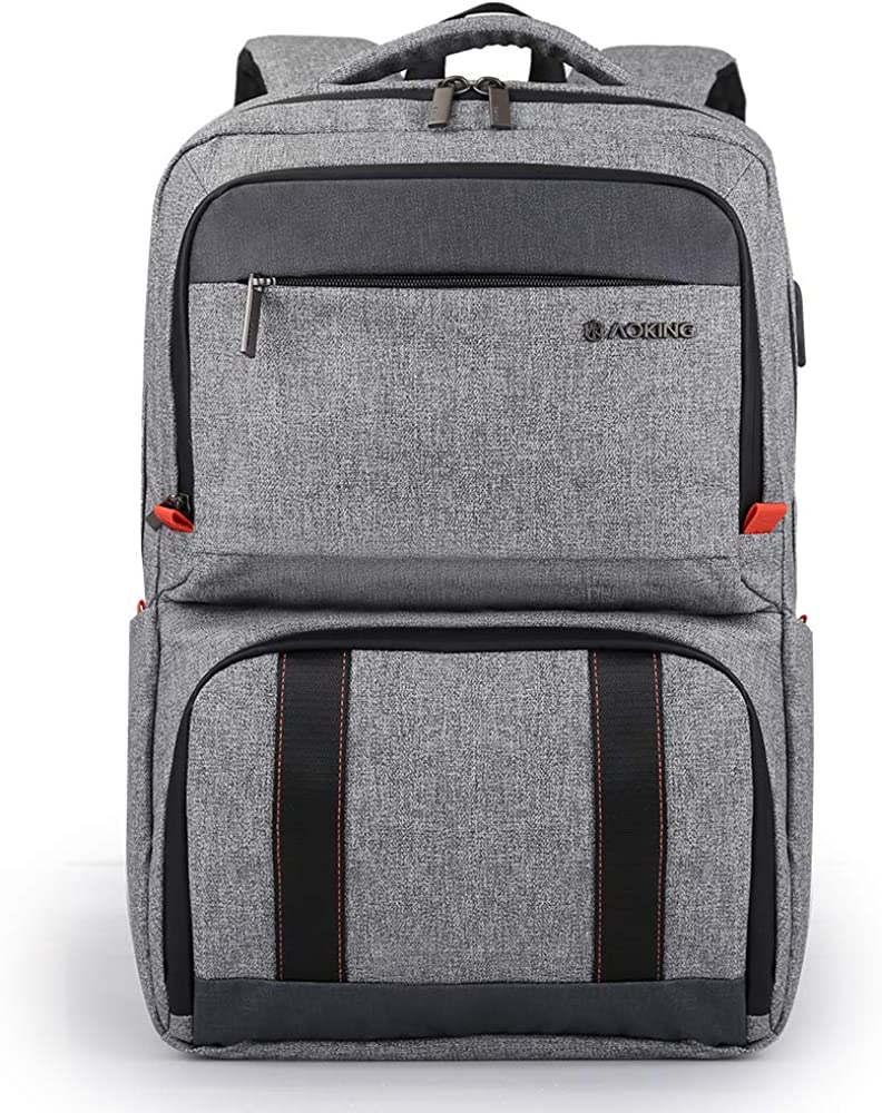 Aoking Insulated Cooler Bag Double Decker Lunch Box Men Backpack for Laptop