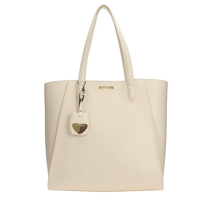 Twin Set Shopping bag nacre  Amazon.it  Abbigliamento c45db824ccb