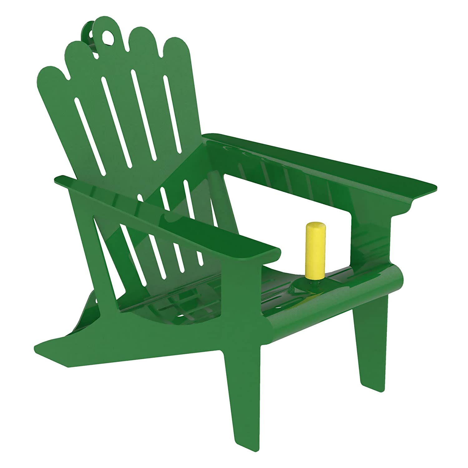 Belle Fleur Adirondack Chair Squirrel Feeder, Green, 1 Corn Cob Capacity 50116
